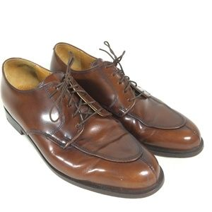 Cole Haan Mens 10.5 Oxford Brown Leather Shoes